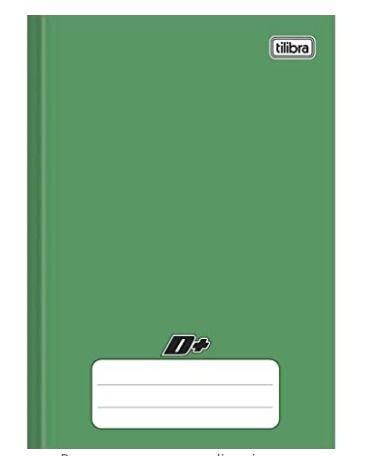 Caderno capa dura brochura universal  pequeno - verde 48 folhas