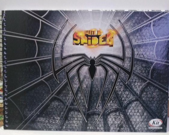 Caderno de desenho capa dura - Wild Spider