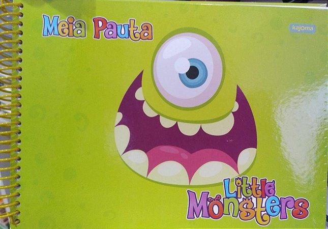 Caderno meio pauta - Litte Monsters