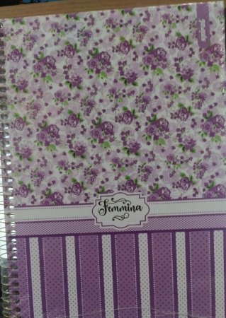 Caderno capa dura  universal Femmina -  96 folhas