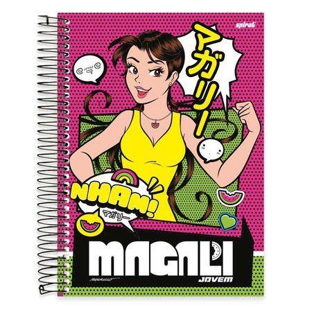 Caderno Universitário Capa Dura 10 matérias (200 fls) Magali SPIRAL