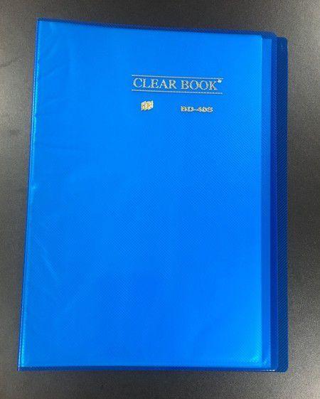 Pasta Catálogo Clearbook PlastPark com 40 envelopes plásticos - azul