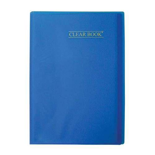 Pasta Catálogo Clearbook PlastPark com 10 envelopes plásticos - azul
