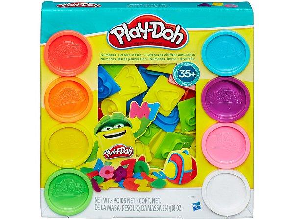 Conjunto De Massinha Play-Doh Letras E Números, Hasbro, Colorido, 8 Potes…