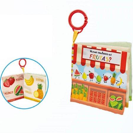 Livro de Pano Conhecendo as Frutas - Buba Toys