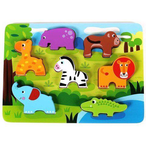 Tabuleiro de Encaixe - Floresta - Tooky Toy