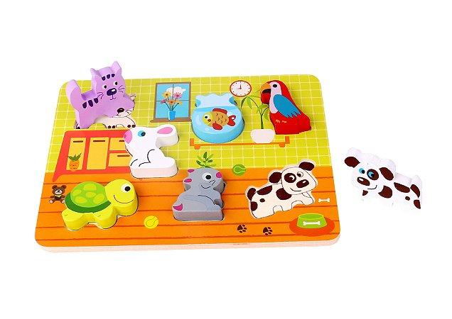Tabuleiro de Encaixe - Animais - Tooky Toy