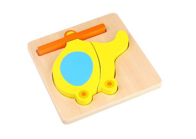 Mini Brinquedo de Encaixe - Helicóptero - Tooky Toy
