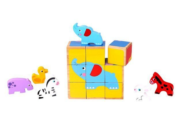 Quebra Cabeça em Blocos Animais - Tooky Toy