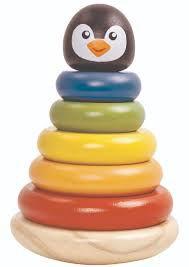 Torre de Encaixe Pinguin - Tooky Toy