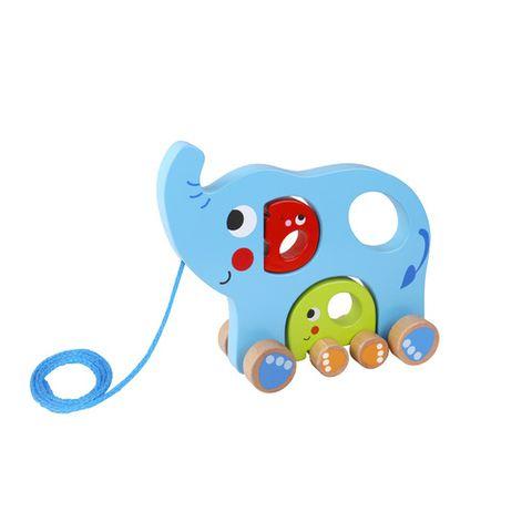 Família Elefante de Puxar - Tooky Toy