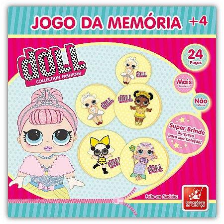 JOGO DA MEMORIA EM MADEIRA - DOLL - 24 peÇas