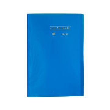 Pasta Catálogo Clearbook Yes com 10 envelopes plásticos - azul