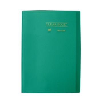Pasta Catálogo Clearbook Yes com 40 envelopes plásticos - verde