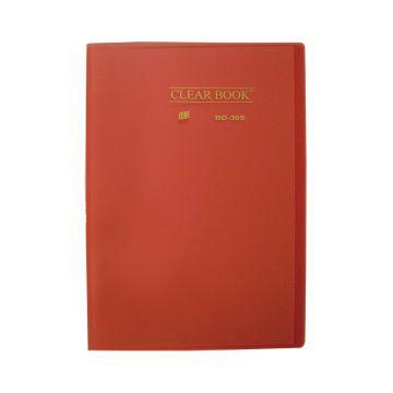 Pasta Catálogo Clearbook Yes com 30 envelopes plásticos - vermelho