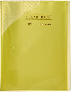 Pasta Catálogo Clearbook Yes com 30 envelopes plásticos - amarelo