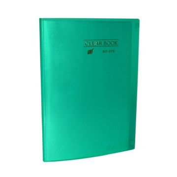Pasta Catálogo Clearbook Yes com 20 envelopes plásticos - verde