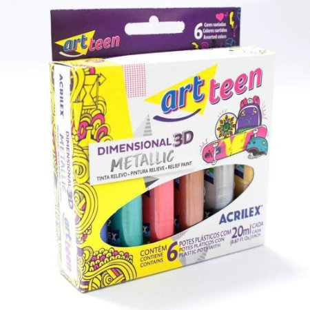 Dimensional Metallic 3D - art teen