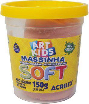 MASSA DE MODELAR SOFT AMARELO PELE 150G ACRILEX