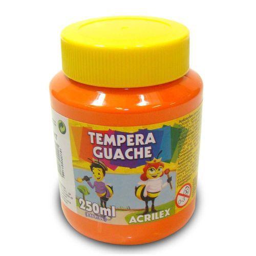 TEMPERA GUACHE 250 ML LARANJA ACRILEX