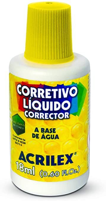 CORRETIVO LIQUIDO ESCOLAR 18ML ACRILEX