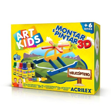 MONTAR E PINTAR 3D HELICOPTERO ACRILEX