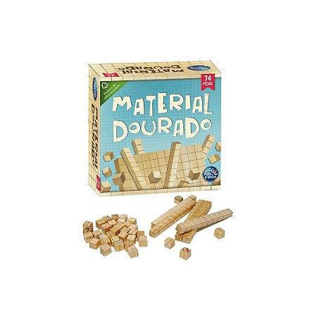 Material dourado 74 peças em madeira