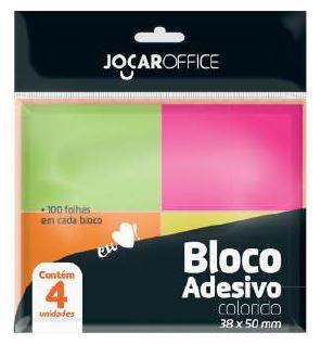 bloco adesivo colorido - 38x50