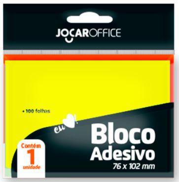 BLOCO ADESIVO AMARELO 76MMX102MM JOCAR OFFICE