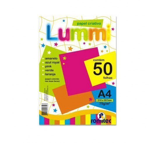 Papel criativo Lummi A4 c/ 50 fls