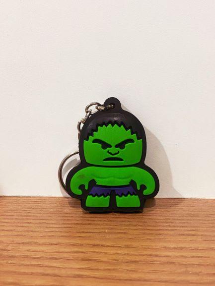 Chaveiro de borracha Incrível Hulk