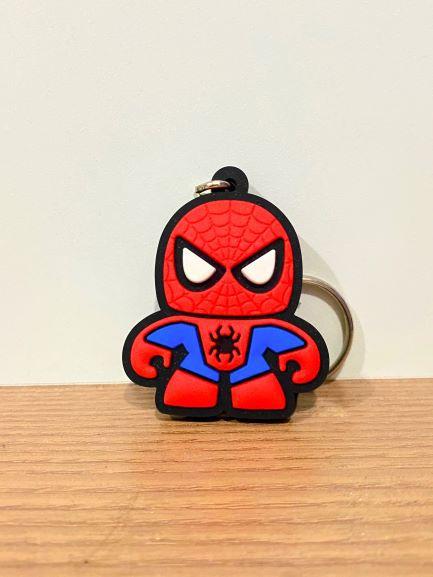 Chaveiro de borracha Homem Aranha