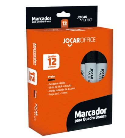 Marcador para quadro branco - preto cx c/ 12 unidades