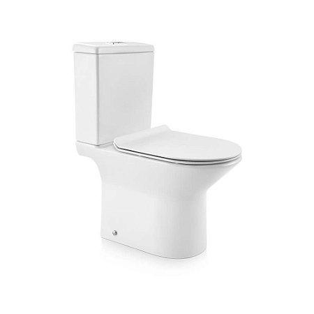 Docol Bacia com Caixa Acoplada Lift  Branco + Assento + Acessórios de Fixação Cromado