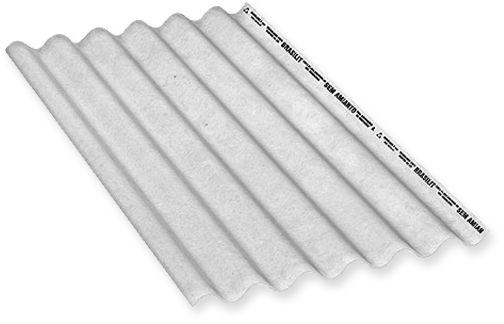 Telha de Fibrocimento Ondulada - BRASILIT  3.66 x 1.10 x 6mm