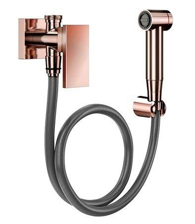 Ducha higiênica com registro e derivação New Edge cobre polido