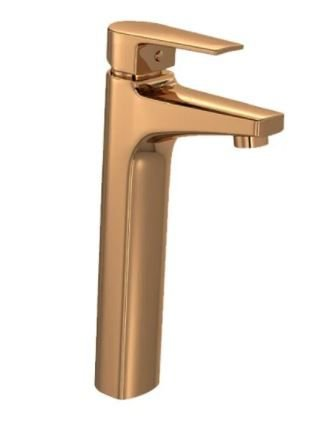 Misturador Deca D.Coat Monocomando Mesa Bica Alta Level Red Gold