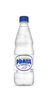 Água Mineral Prata sem Gás 510 ml Pet (Pacote/Fardo 12 garrafas)