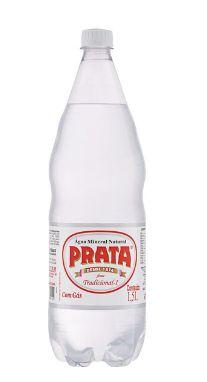 Água Mineral Prata com Gás 1,5L Pet  (Pacote/Fardo 06 garrafas)