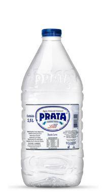 Água Mineral Prata sem Gás 2,5L Pet  (Pacote/Fardo 04 unid)