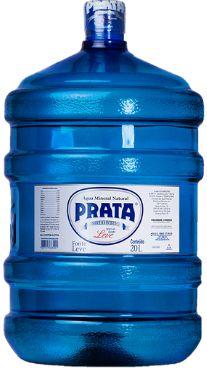 Galão de 20 litros Água Mineral Prata Retornável