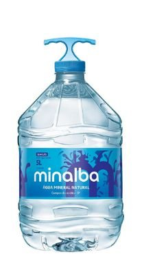 Galão de 5lts litros Água Mineral Minalba descartável (pcte com 2 unid.)