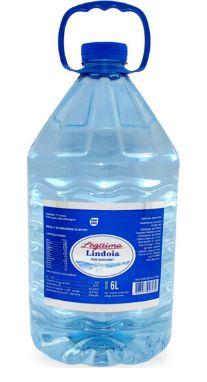 Galão de 6lts litros Água Mineral Lindoia Legitima descartável (pcte com 2 unid.)