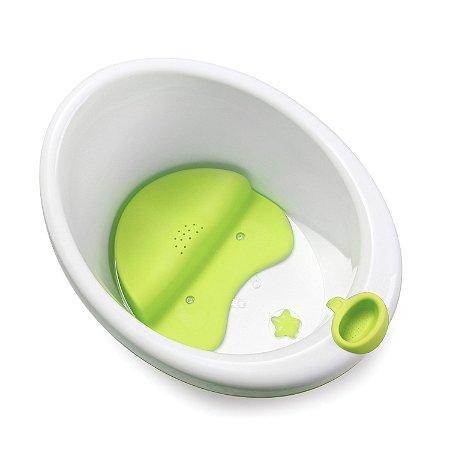 Banheira Bubbles Safety 1St Branco e Verde