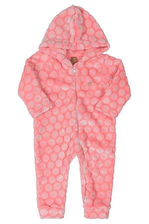 Macacão Manga Longa em Pelo 033263 Rosa Fluor Up Baby