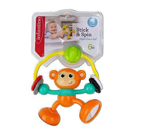 Brinquedo Interativo Macaco com Sucção na Base Infantino
