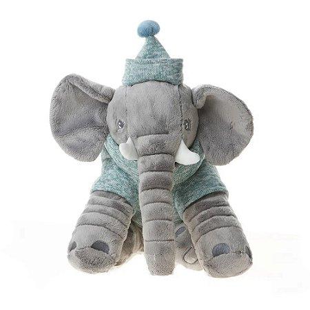 Pelúcia Elefante Bugüinha Boy 34cm Bupbaby