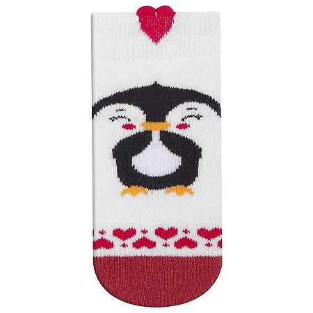 Meia Fun Socks Bebê Carinho Pinguim Winston