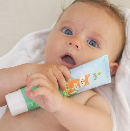 Hidratante Natural Relaxante para Bebe com  Calendula, Camomila e Oleo Essencial de Lavanda