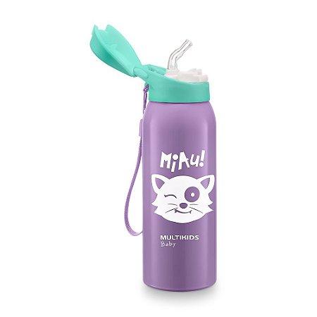 Copo térmico com Canudo Keep it Cool 350 ml Roxo Multikids
